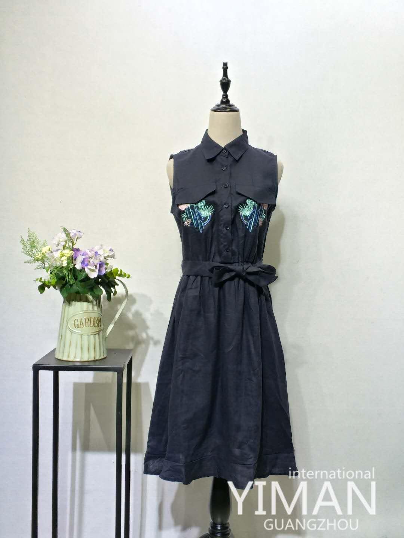 广州伊曼服饰品牌女装尾货走份批发,韩国女装品牌折扣库存