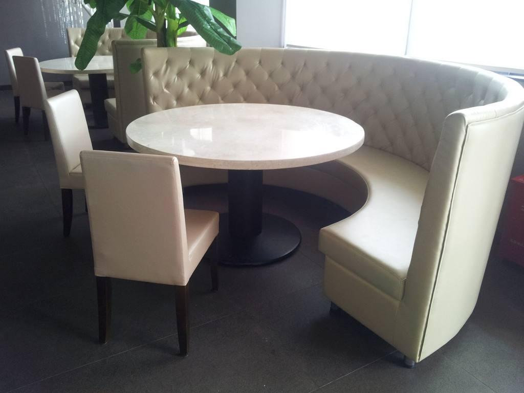 咖啡厅沙发休闲布艺沙发定做工厂餐厅卡座半圆卡座酒吧沙发供应
