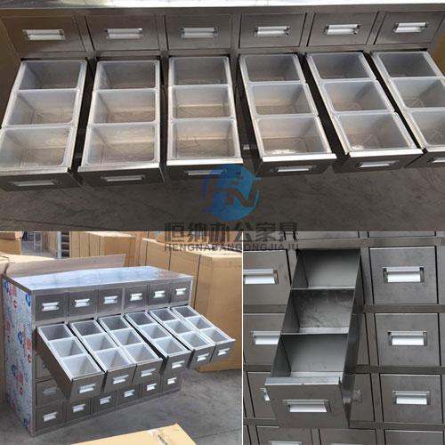 欢迎采购昌吉中药柜多少钱不锈钢药斗柜会生锈吗