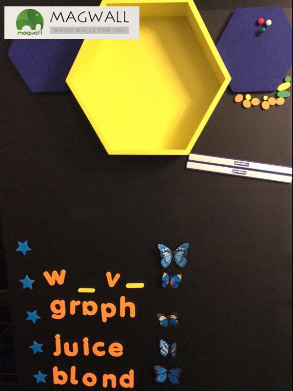 供应广州磁善家双层结构磁性吸附pvc磁性黑板贴