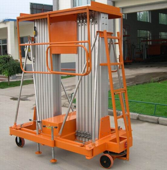 甘肃张掖6米双柱铝合金升降平台生产厂家