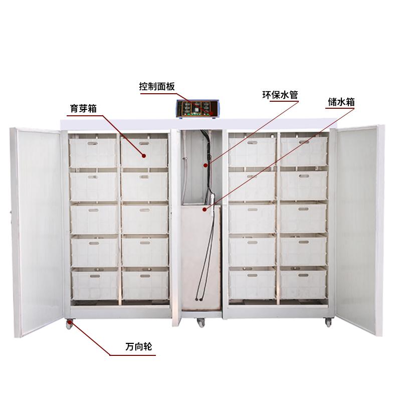 供应新款豆芽机 河北盛隆自动检测温度箱式家用豆芽机厂家直销
