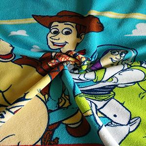 新款印花毛巾布 服装毛毯工艺品面料 卡通印花毛巾布