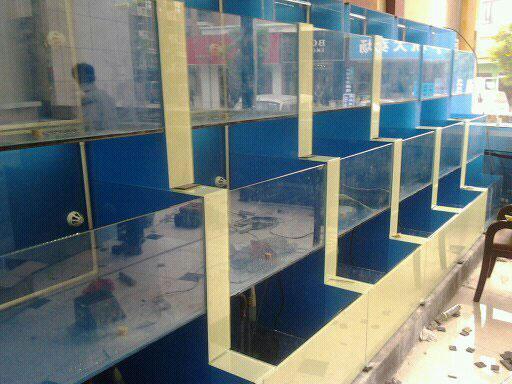 【海鲜设备有限公司】吉林鱼缸生产厂家+长岭鱼缸