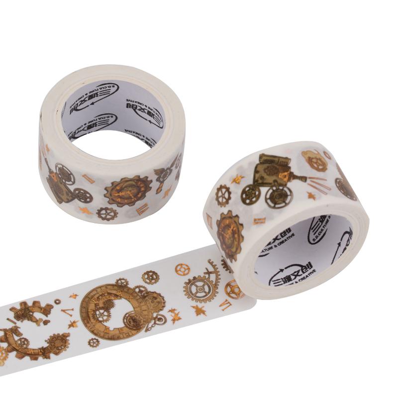 来图定制朝花月夕蒸汽朋克齿轮、复古风基础创意素材和纸胶带