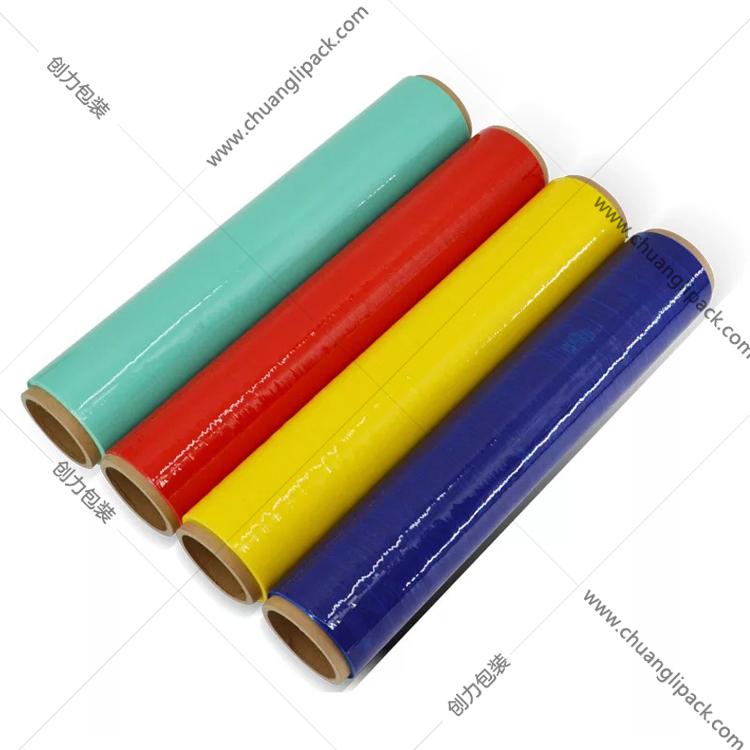 pe缠绕膜生产厂家 拉伸膜缠绕膜打包薄膜批发定制