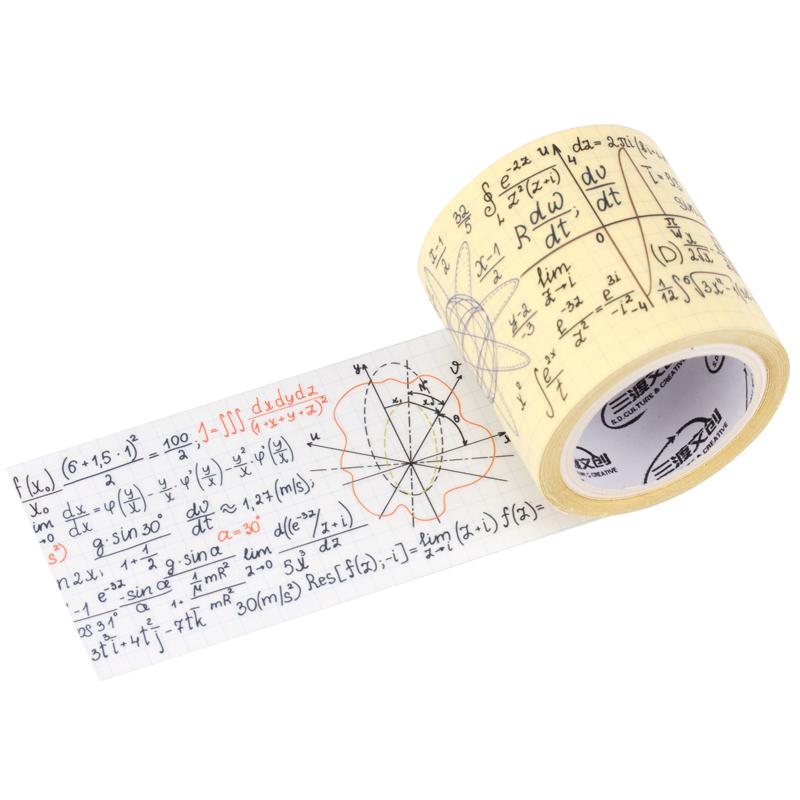 来图定制PET哑光数学符号元素方程手帐胶带