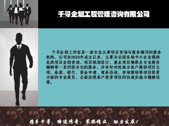 策撰本地项目预可研报告甘南千寻企划技术硬_云商网招商代理信息