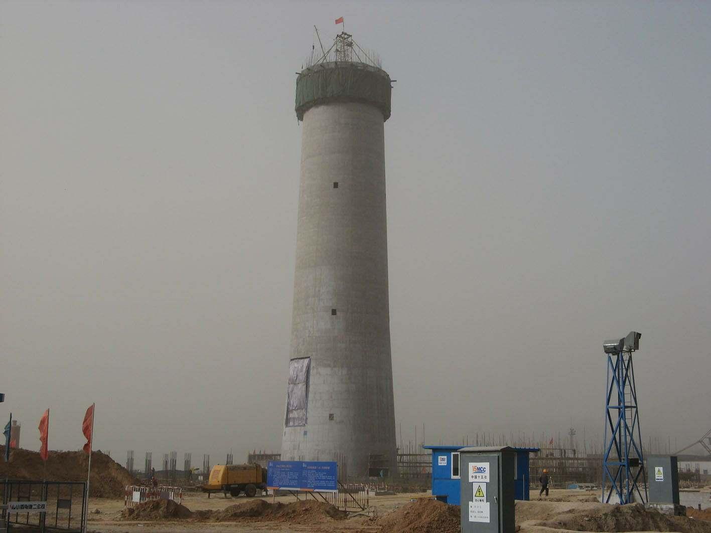 长春市60米水泥烟囱新建