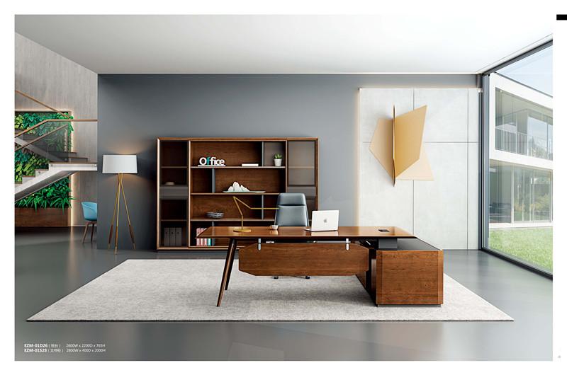 实木老板办公桌  新中式老板办公桌
