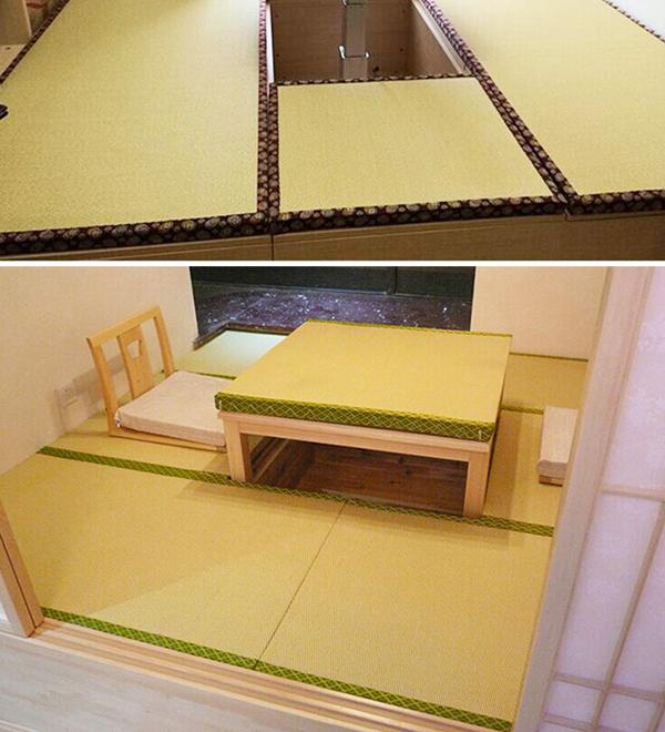 华艺和室传统席日式榻榻米垫子定做软木纤维垫床垫塌塌米地垫踏踏