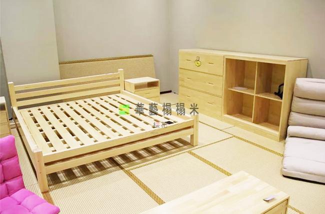 华艺榻榻米纯实木柜体桌面实木电脑桌