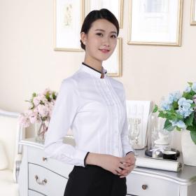 湖南定做工作服ol女式长袖夏季职业衬衫厂家现货