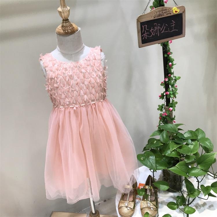 武汉朵娜公主网上童装批发女童公主裙货源