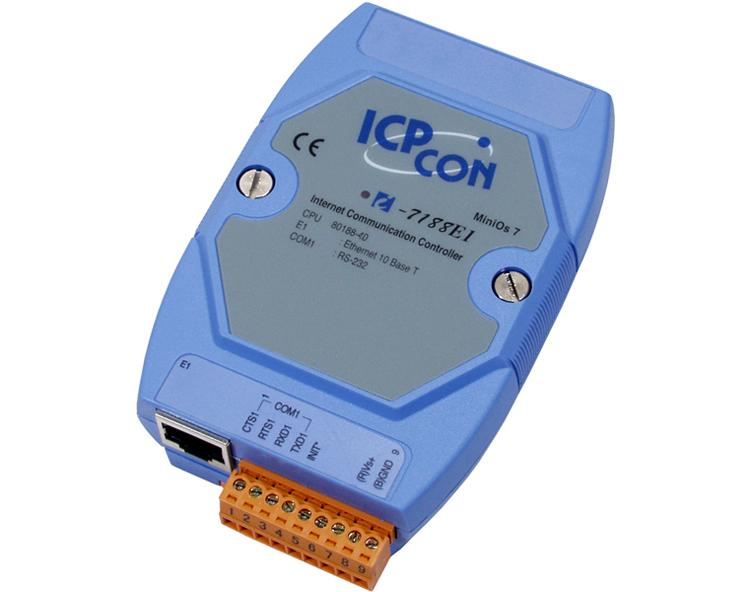 供应泓格I-7188E1:1端口RS-232串口设备联网服务器