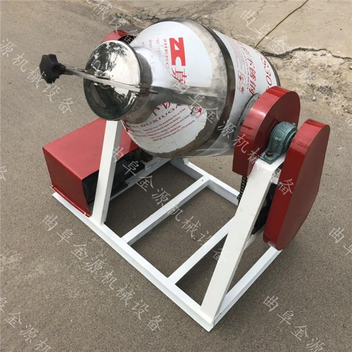 上海小型食品化工鼓式滾筒100公斤腰鼓混料機