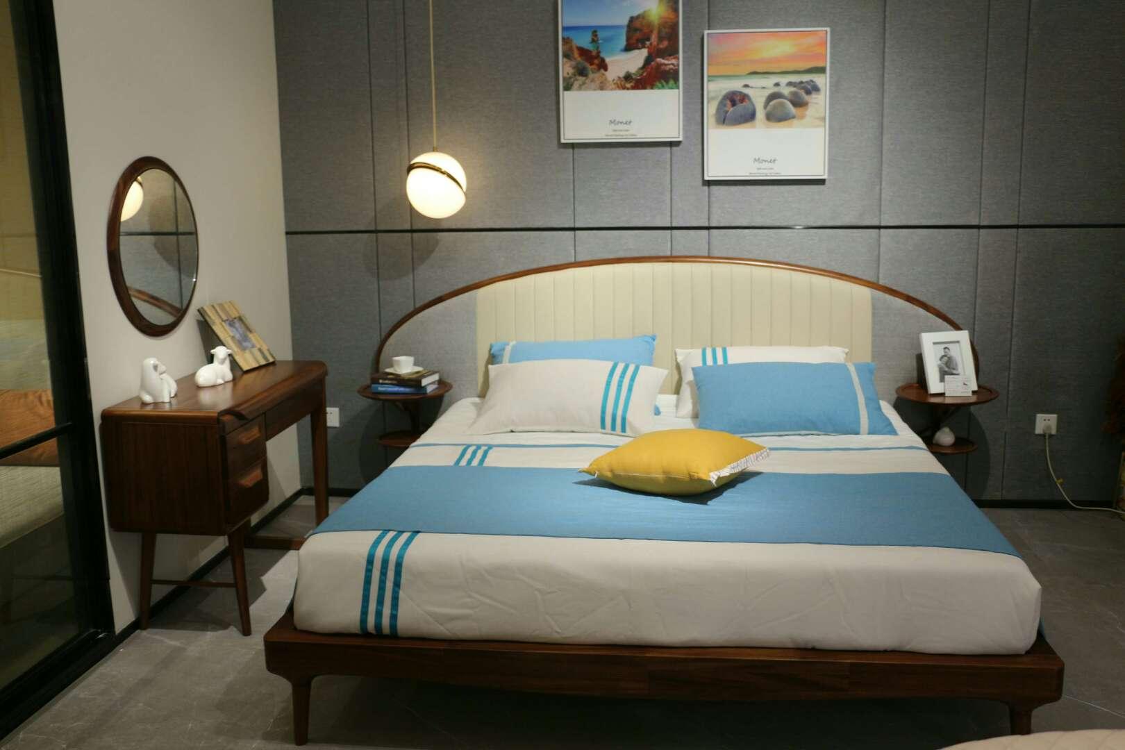 天籁之音2代  黄檀木(黄玫瑰)宝恒家具有限公司 轻奢简约中式北欧极简套房家具