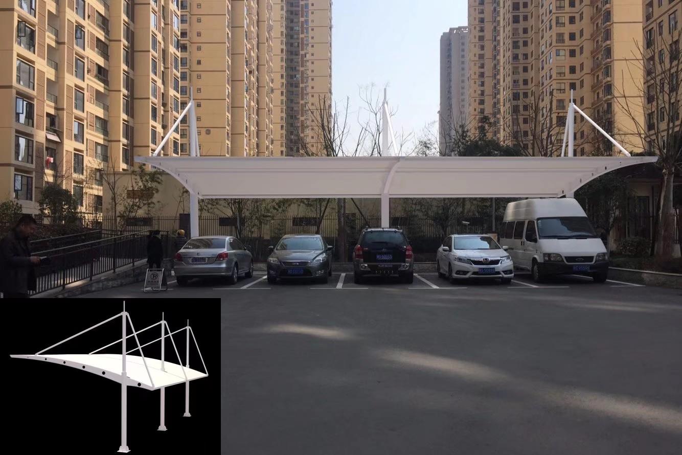 顺昌台州厂家定做停车棚、充电桩停车棚洋诗推拉蓬