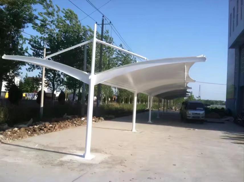 君山全国上门安装停车棚厂家定做停车棚5充电桩停车棚炜洋推拉蓬