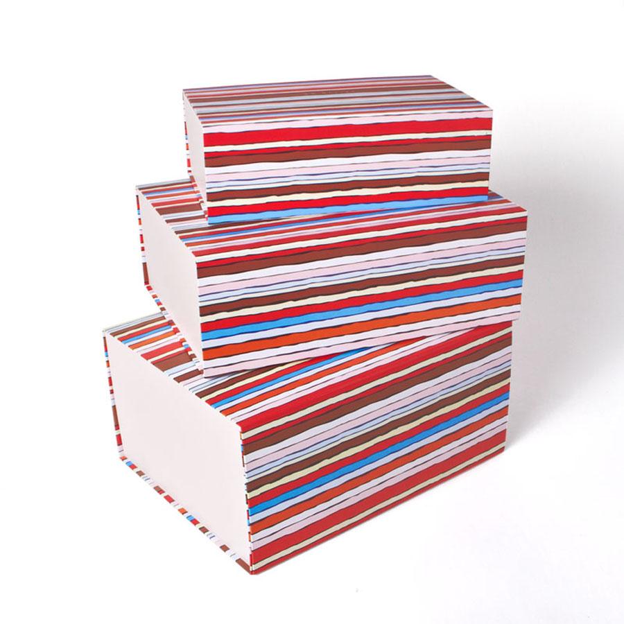 广州创意彩色外贸品牌精品折叠包装盒定制