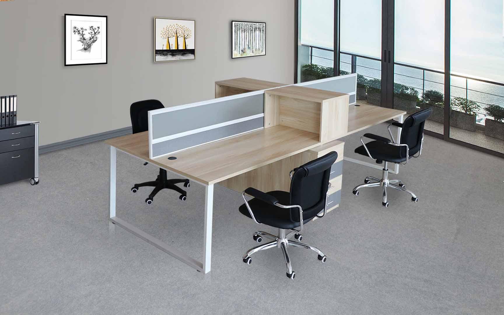 四平多人位辦公桌產品定制生產