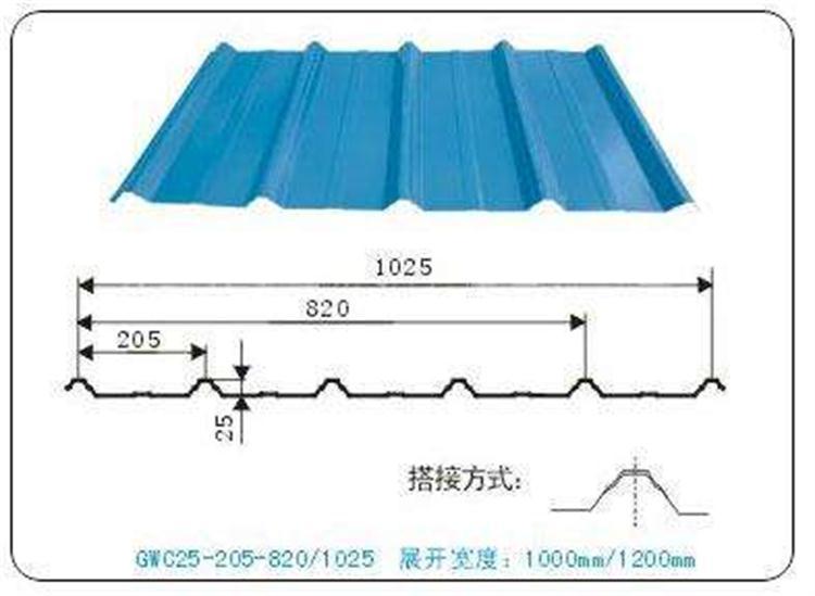 鄭州屋面彩鋼板廠家YX41-250-750型不二之選