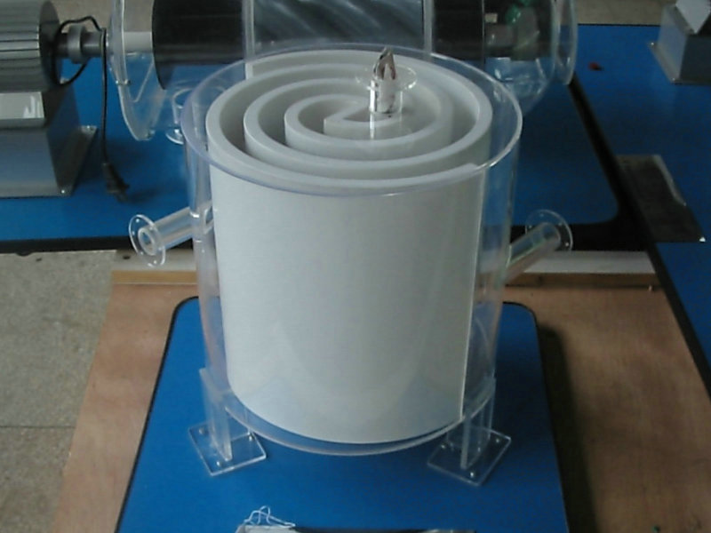 大庆耐用的虹吸式、块基型泵房整体模型螺旋板式换热器模型价低