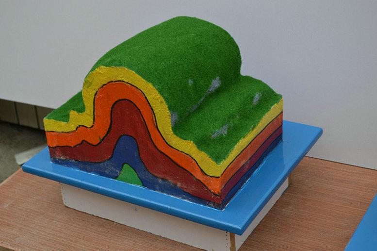 双鸭山效果好的波纹斜板式除油池模型褶皱示意模型展厅设计