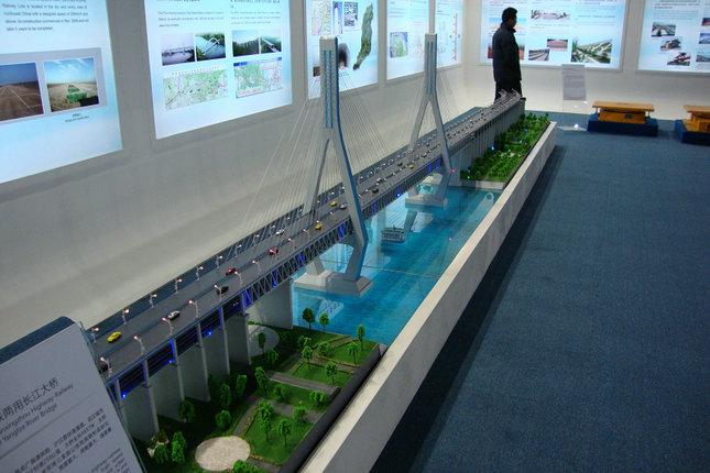 双鸭山耐用的灭弧室单元模型公铁两用长江大桥展览模型manbetx登陆定制