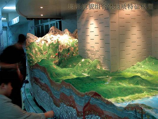 安达服务好的天然气净化处理工艺模型地形地貌地质展厅模型批发商