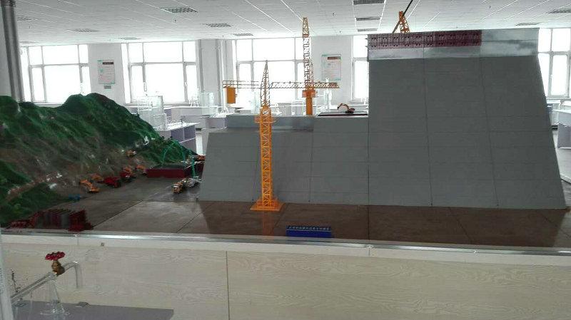 伊春品牌大体积砼模拟浇筑仓位模型1000兆瓦核能电站模型沙盘工厂