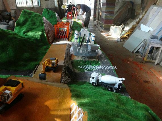 五常效果好的市政路桥施工沙盘模型清洁能源垃圾发电模型图片展示