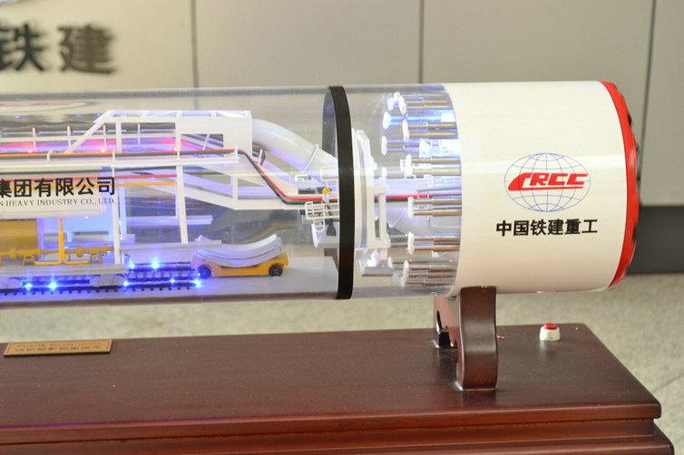 尚志好的土压平衡式盾构机模型风力发电机舱展品模型沙盘设计