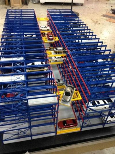 肇东服务好的立体车库模型模型尾气处理静电除尘器模型联系方式