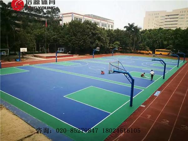 海口篮球场建设£¬新国标海南海口塑胶篮球场专业施工建设厂家
