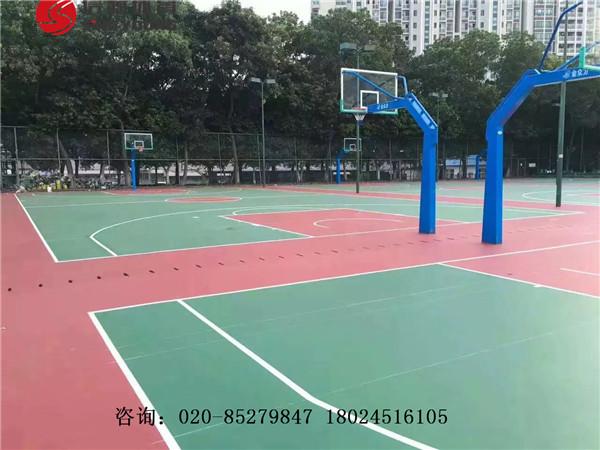 茂名湛江阳江篮球场建设及塑胶硅PU篮球场专业建设厂家