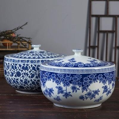 景德�中式米桶耐高�刎i油罐瓷器 ���w米缸茶�~罐