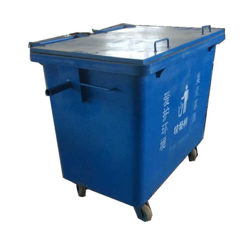 环康600L铁垃圾桶加厚型大号铁桶定制销售