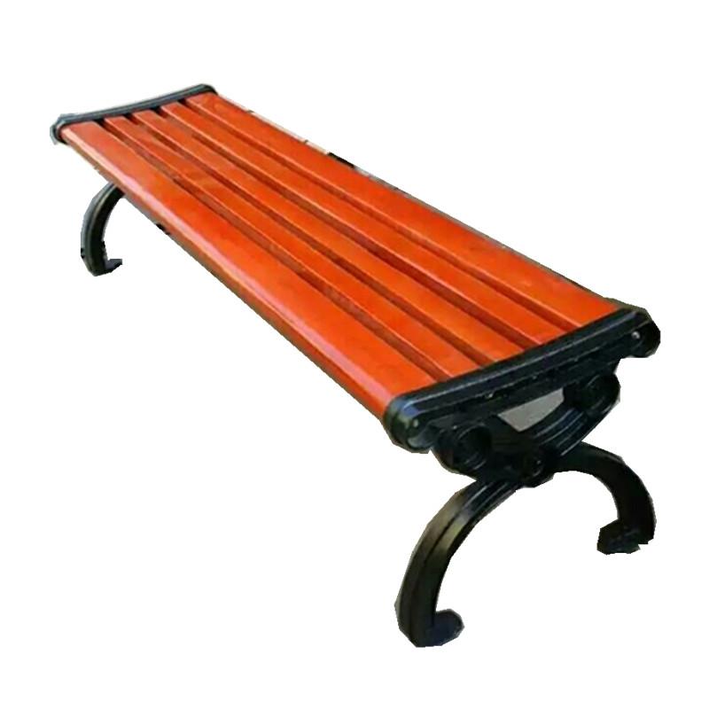 现货供应铸铝脚平凳户外休闲凉椅防腐木座椅