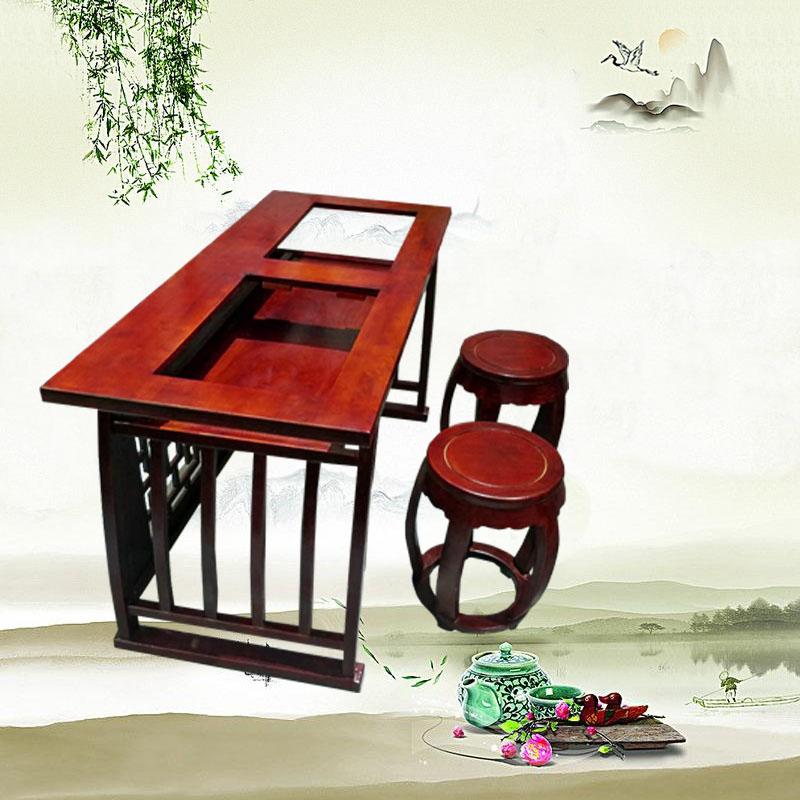 臨摹桌椅廠家 生產榆木臨摹桌椅價格表