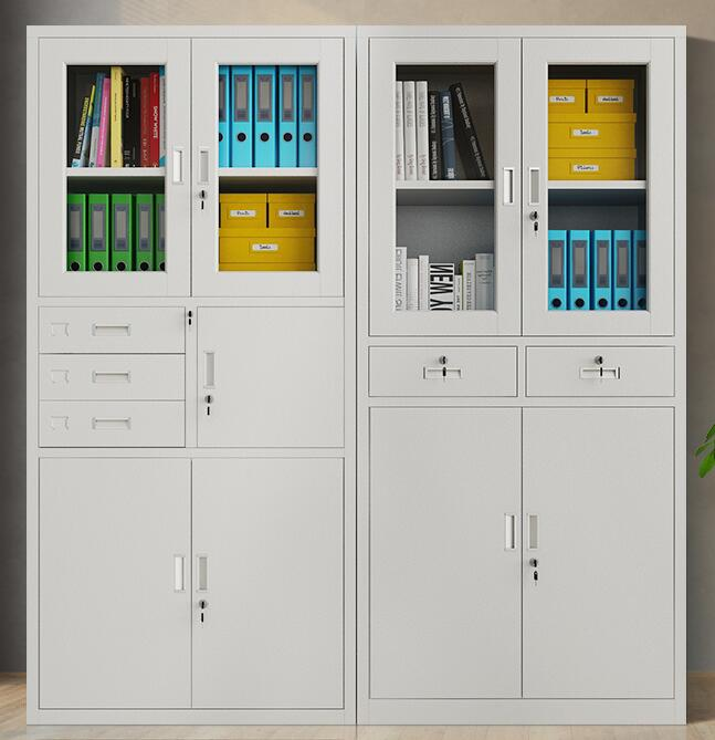 保定玻璃门铁皮柜子文件柜 抽屉隔板资料书柜manbetx登陆