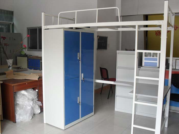 厂家直销宿舍公寓床  带书桌衣柜宿舍床