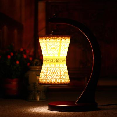 景德鎮仿古典雅薄胎鏤空陶瓷臥室床頭燈臺燈 定制陶瓷燈罩
