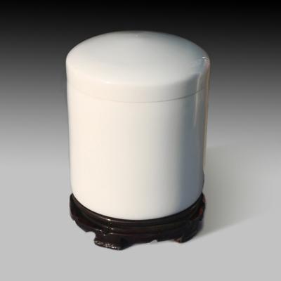 白色陶瓷骨灰壇圓形瓷器 寵物骨灰壇小號骨灰盒可印照片