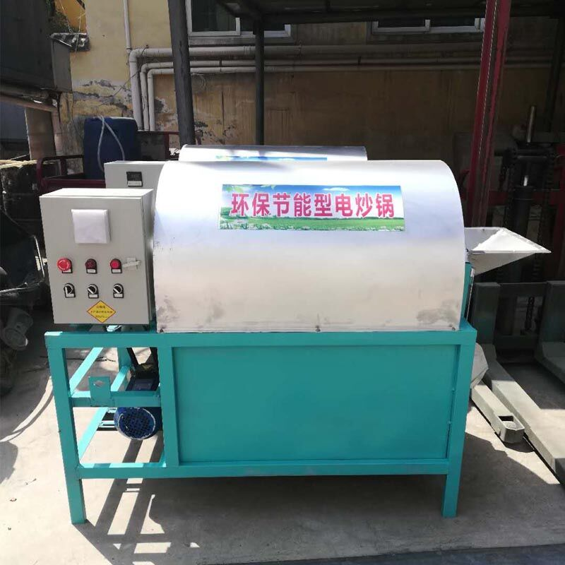 滚筒芝麻炒货机 全自动炒籽机 电加热炒籽机