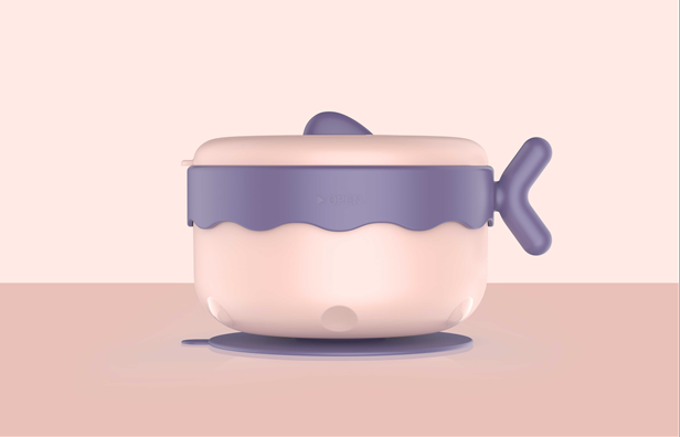 sharecare超級兒童餐具 寶寶注水保溫碗吸盤碗兒童碗勺套裝