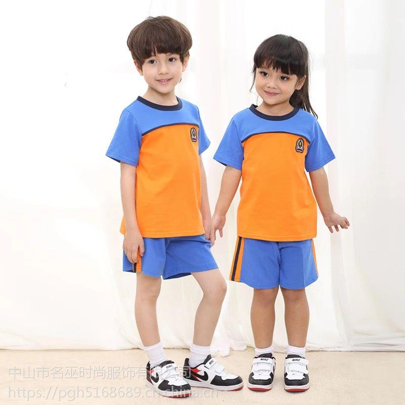 童�b男童短袖套�b夏�b2019新款�和�中大童�杉�套��洋�獬�