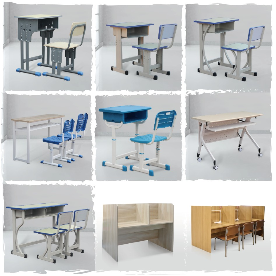 少秋课桌椅钢木塑料真木多样选择正正在哈中疑