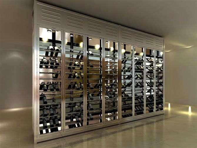 长春高端不锈钢酒柜产品哈中信定制出售
