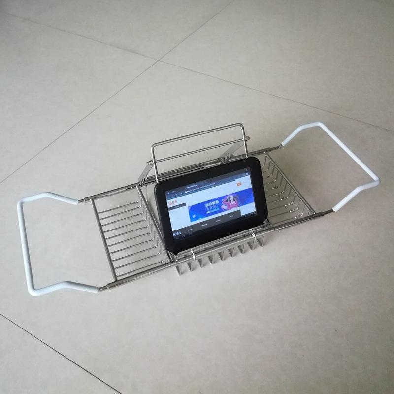大赢家棋牌泡澡出有锈钢浴缸架足柄可伸缩浴缸支纳架足机IPAD浏览架